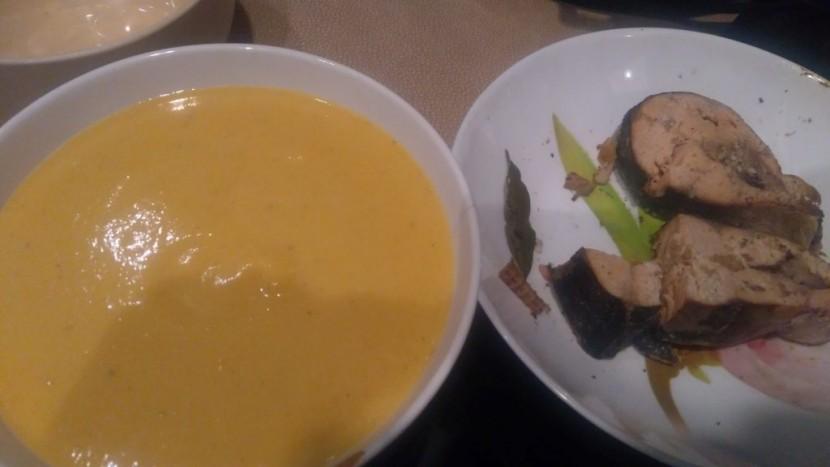 Тыквенный суп с рыбой